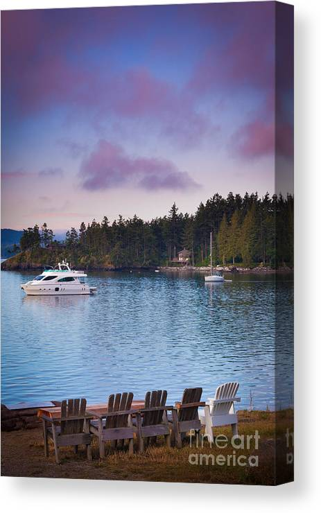 America Canvas Print featuring the photograph Orcas Viewpoint by Inge Johnsson