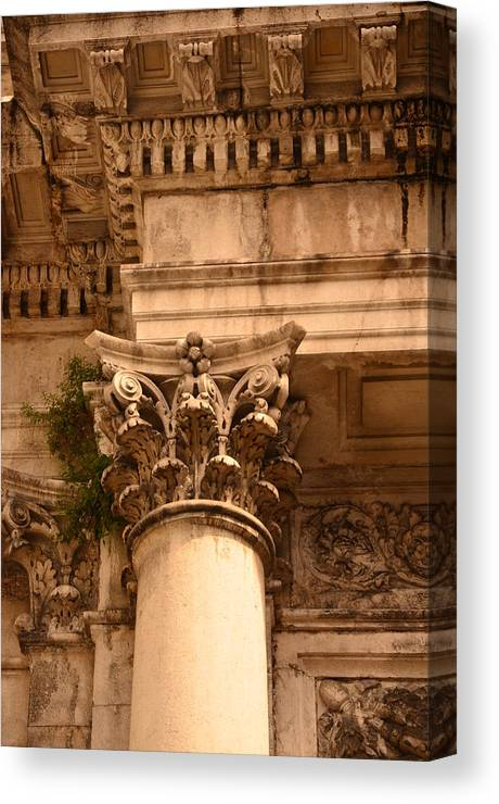 Architecture Canvas Print featuring the photograph Ornate Column by Diana Shuter