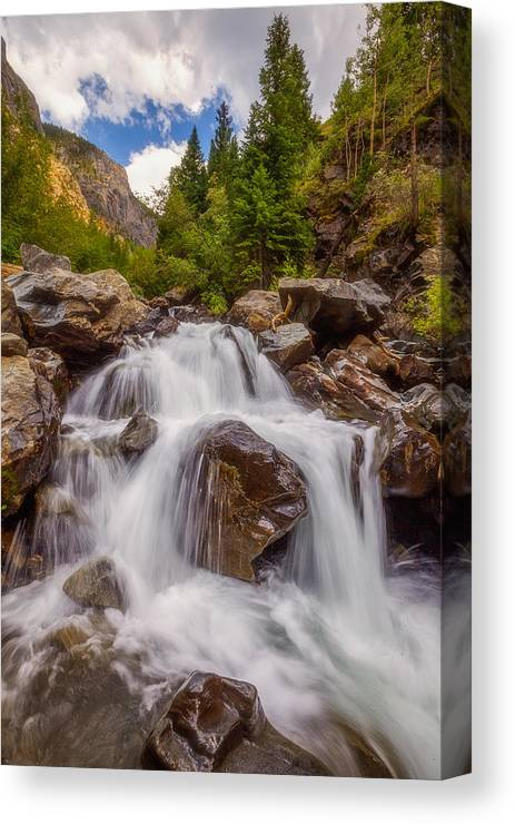 Waterfall Canvas Print featuring the photograph Ouray Wilderness by Darren White