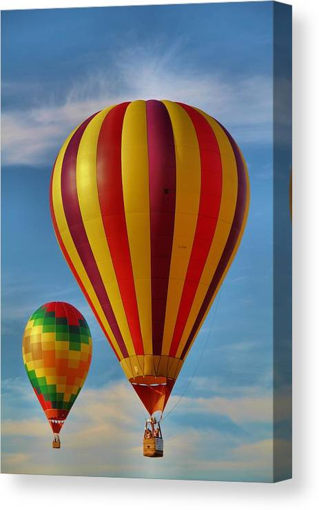 Hot Air Balloon Photograph Canvas Print featuring the photograph Oz by Dan Sproul