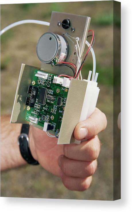 Sensor Canvas Print featuring the photograph Ozone Sensor by David Hay Jones/science Photo Library