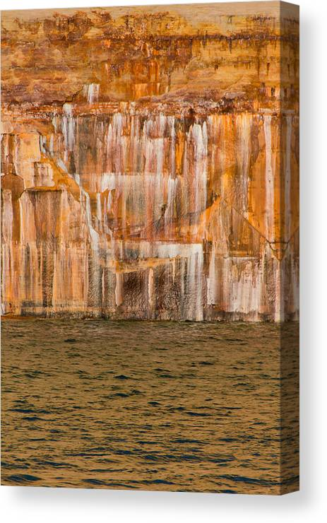 Pictured Rocks Canvas Print featuring the photograph Paint Of The Creator by Calypso Pictures