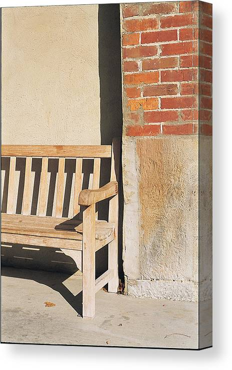 Canvas Print featuring the photograph Park Bench by Robert Rosati