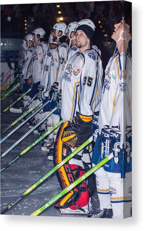Hockey Canvas Print featuring the photograph Peter Di Salvo by Richard P Davis