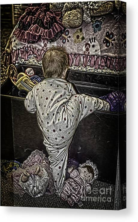 Toys Canvas Print featuring the photograph Play Time by Linda Magnanti