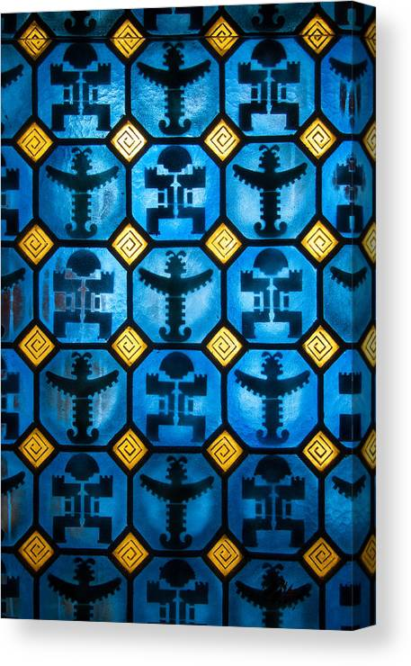 Columbian Canvas Print featuring the photograph Pre-columbian Figures by Jess Kraft