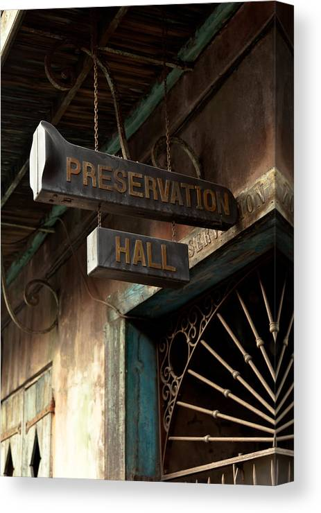 Preservation Hall Canvas Print featuring the photograph Preservation Hall by Susie Hoffpauir