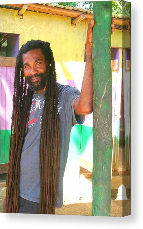 Rasta Canvas Print featuring the photograph Rasta Man by Laurel Talabere
