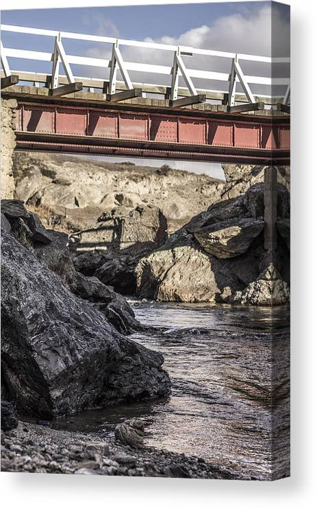 Landscape Canvas Print featuring the photograph Red Bridge by Tony Bennett