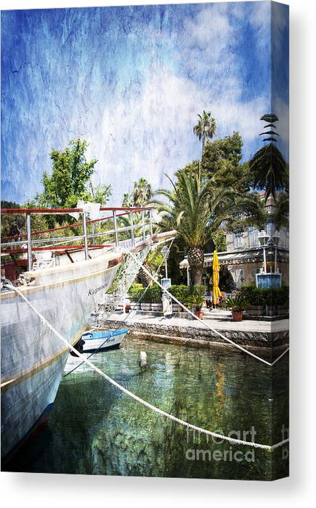 Cavtat Canvas Print featuring the photograph Relaxing In Cavtat by Brenda Kean