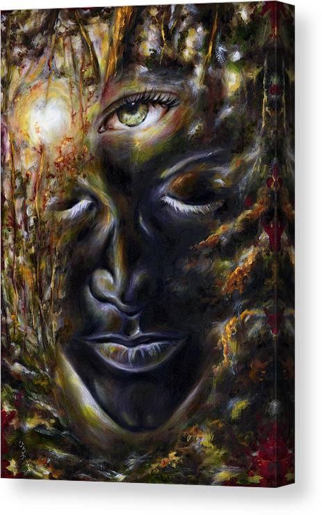 Eye Canvas Print featuring the painting Revelation by Hiroko Sakai