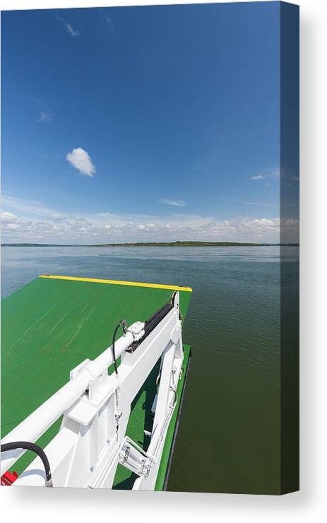 Photography Canvas Print featuring the photograph River Shannon Ferry, Tarbert-killimer by Panoramic Images