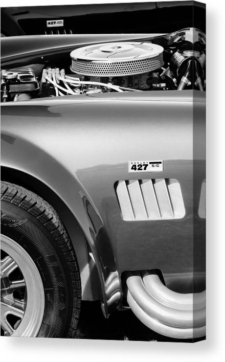 Shelby Cobra 427 Engine Canvas Print featuring the photograph Shelby Cobra 427 Engine by Jill Reger