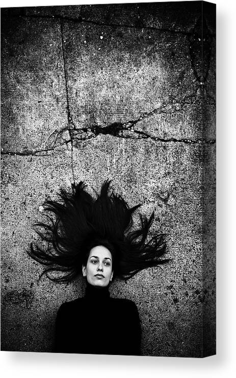 Portrait Canvas Print featuring the photograph Silvia by Vedran Vidak
