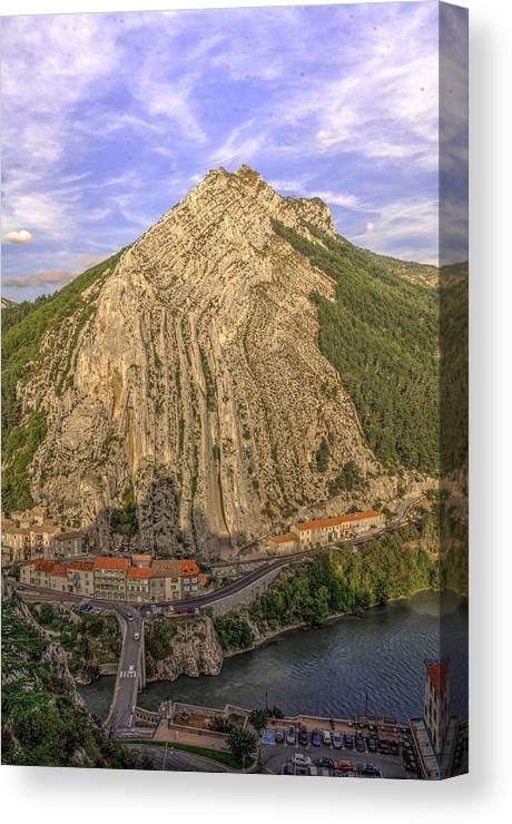Sisteron Canvas Print featuring the photograph Sisteron South France by Seruddin Salleh
