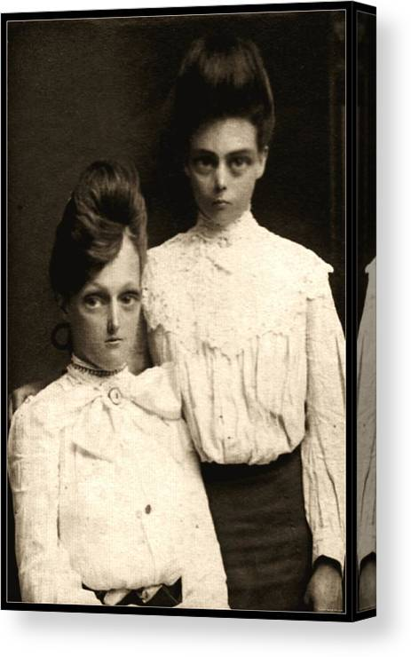 Photograph Canvas Print featuring the photograph Sisters by Kris Milo