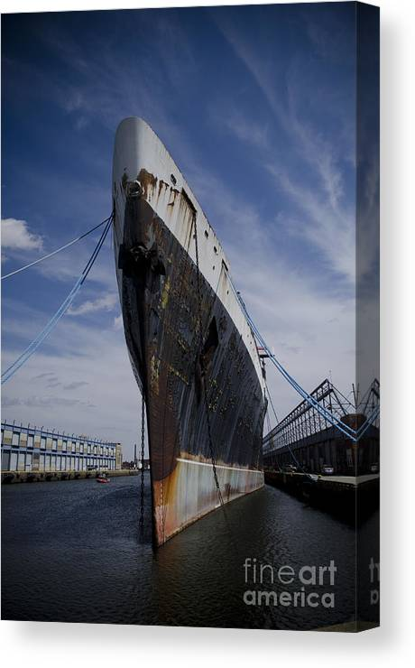Ship Canvas Print featuring the photograph Ss United States By Jessica Berlin by Jessica Berlin