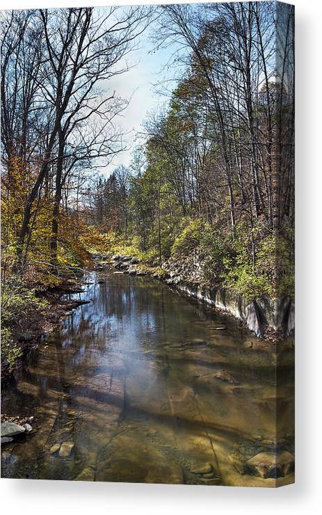 Duanesburg Canvas Print featuring the photograph Still Stream by Ray Summers Photography