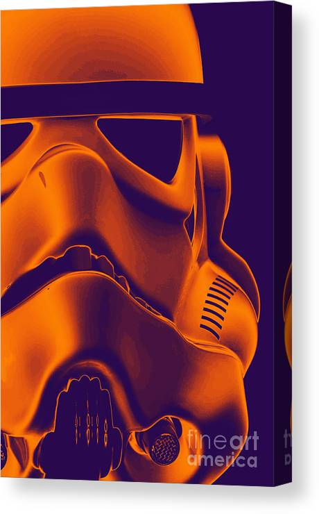 Stormtrooper Canvas Print featuring the photograph Stormtrooper Helmet 9 by Micah May