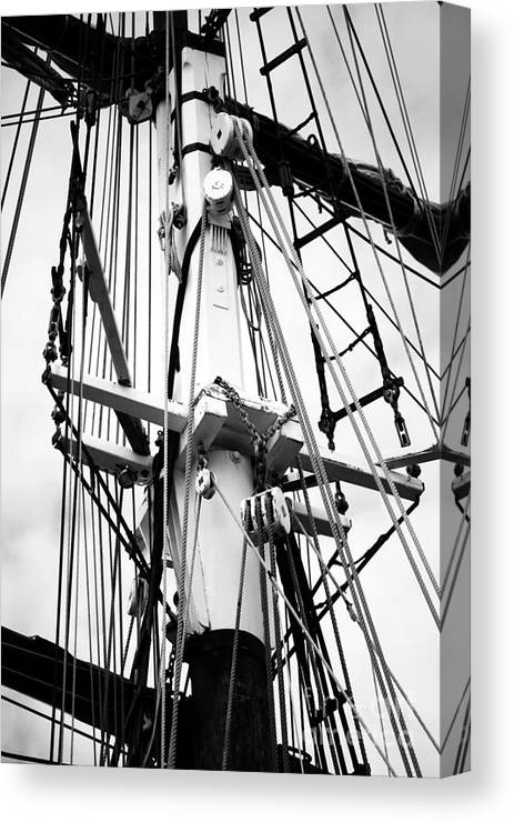 Tall Ships Canvas Print featuring the photograph Tall Ship Architecture by Fiona Young