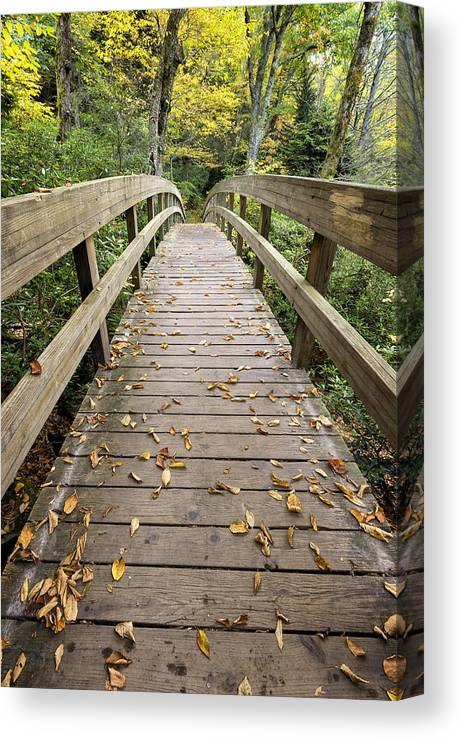Architecture Canvas Print featuring the photograph The Bridge At Rough Ridge by Kate Silvia