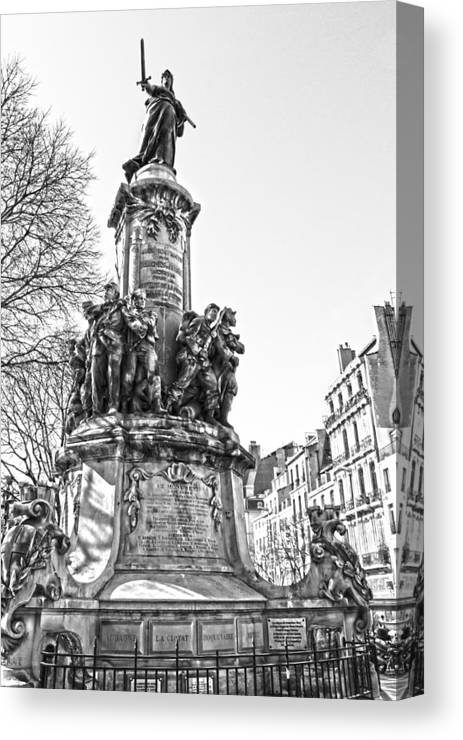 Street Canvas Print featuring the photograph The Hero by Irimia Alex - Adrian