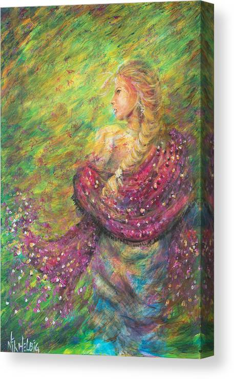Lady Canvas Print featuring the painting The Magdelene by Nik Helbig