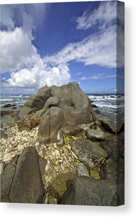 Aruba Canvas Print featuring the photograph The Rough Side Of Aruba by David Letts