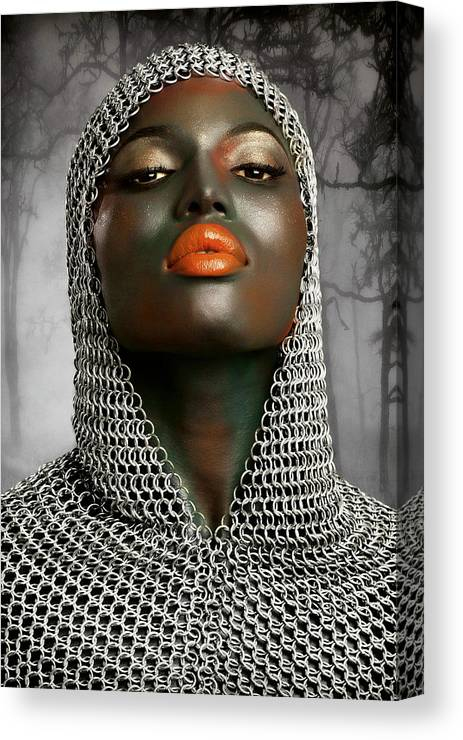 Chainmail Canvas Print featuring the photograph The Warrior by Baden Bowen