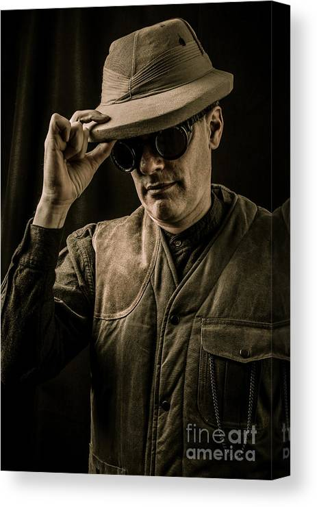 Pith Canvas Print featuring the photograph Time Traveler by Edward Fielding