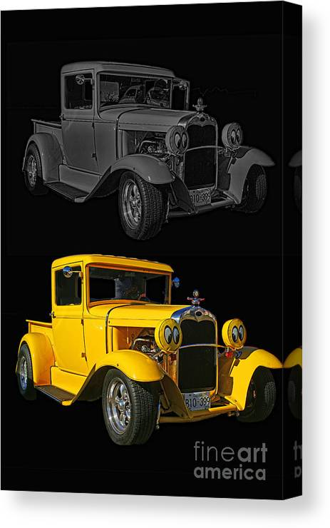 Cars Canvas Print featuring the photograph Two Of A Kind by Randy Harris