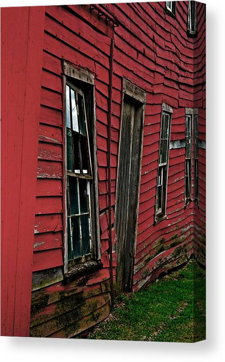 Red Canvas Print featuring the photograph Uneven by Devin OBrien