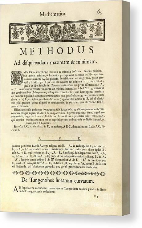 Varia Opera Mathematica By Pierre Fermat Canvas Print