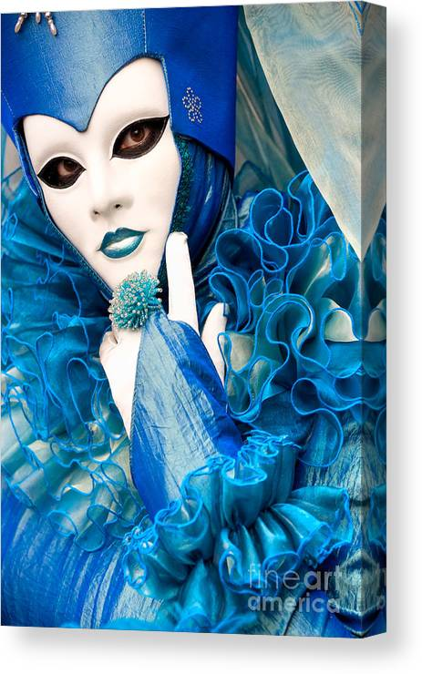 Carnaval Canvas Print featuring the photograph Venice Carnival Mask 2 by Luciano Mortula