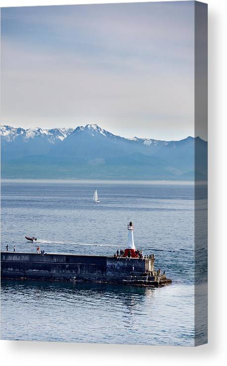 Victoria Canvas Print featuring the photograph Victoria Harbor by Jo Ann Snover