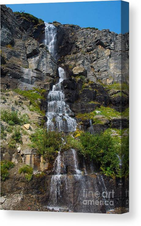 Water Canvas Print featuring the photograph Waterfall by Cindy Murphy - NightVisions