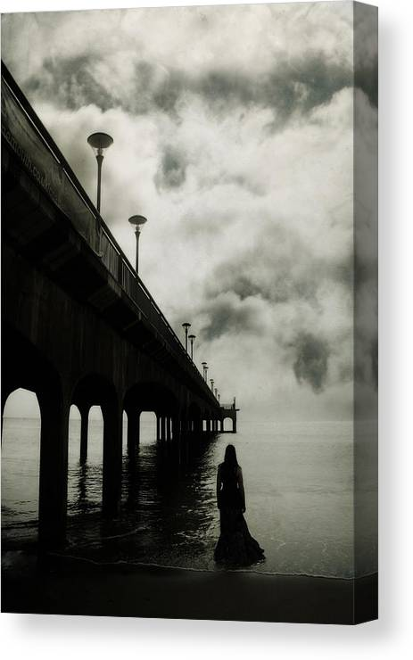 Woman Canvas Print featuring the photograph We Who Fell In Love With The Sea by Cambion Art