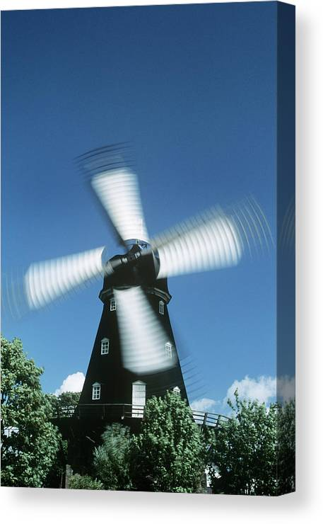 Mill Canvas Print featuring the photograph Windmill by Dan Sams/science Photo Library