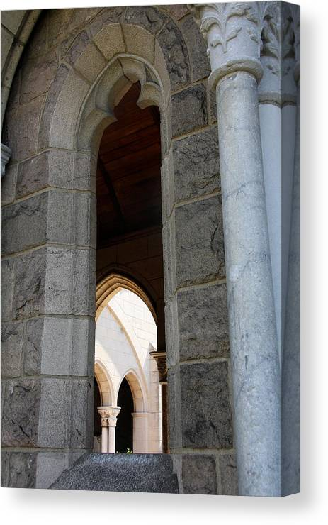 Window Canvas Print featuring the photograph Window Cloisters Nyc by Christiane Schulze Art And Photography