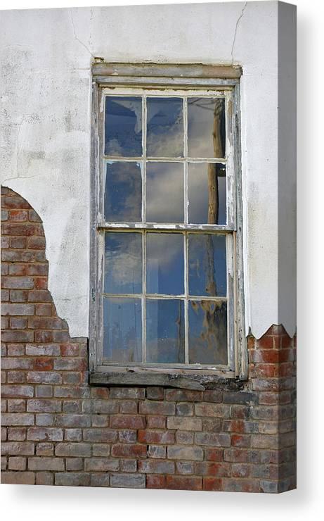Window Canvas Print featuring the photograph Window Elizabethtown Illinois by David Watson