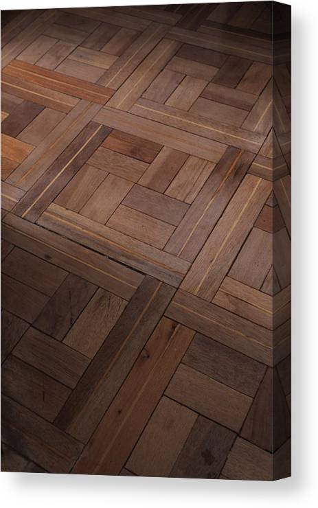 Hardwood Canvas Print featuring the photograph Parquet by David Dalrymple