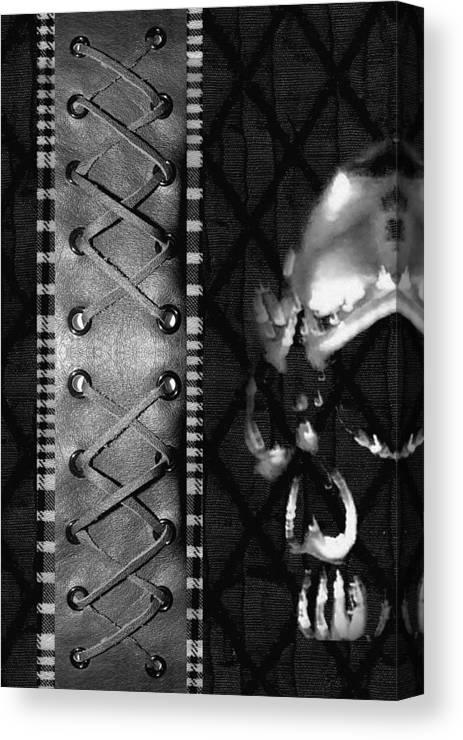 Skull Canvas Print featuring the digital art Solo Skull by Roseanne Jones