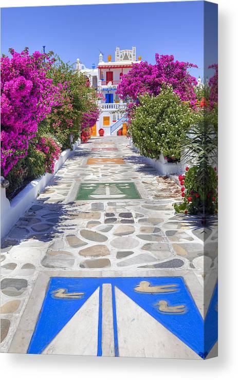 House Canvas Print featuring the photograph Mykonos by Joana Kruse