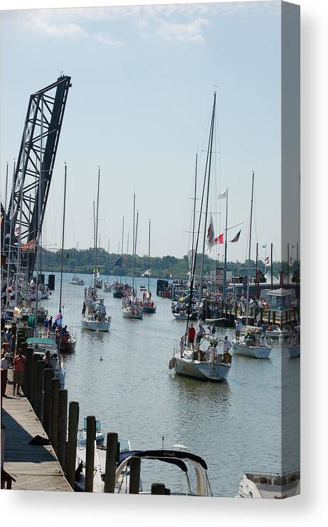 Sails Canvas Print featuring the photograph Port Huron To Mackinac Island Race by Randy J Heath