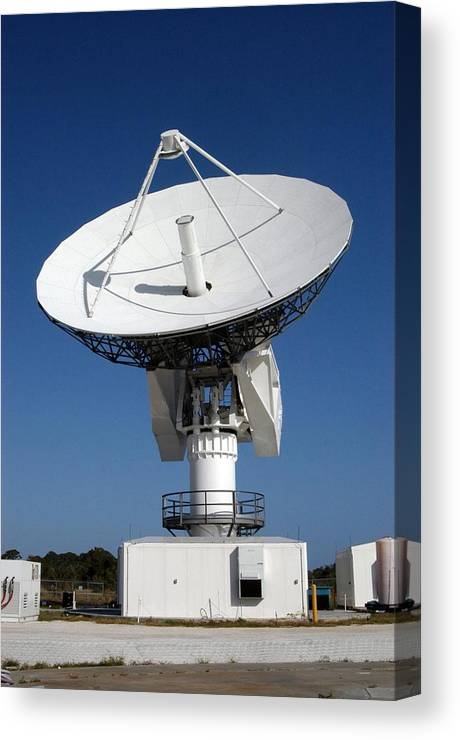 History Canvas Print featuring the photograph 50-foot Dish Antenna At Kennedy Space by Everett