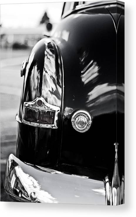 1952 Canvas Print featuring the photograph '52 Tail Lights by Randall Cogle