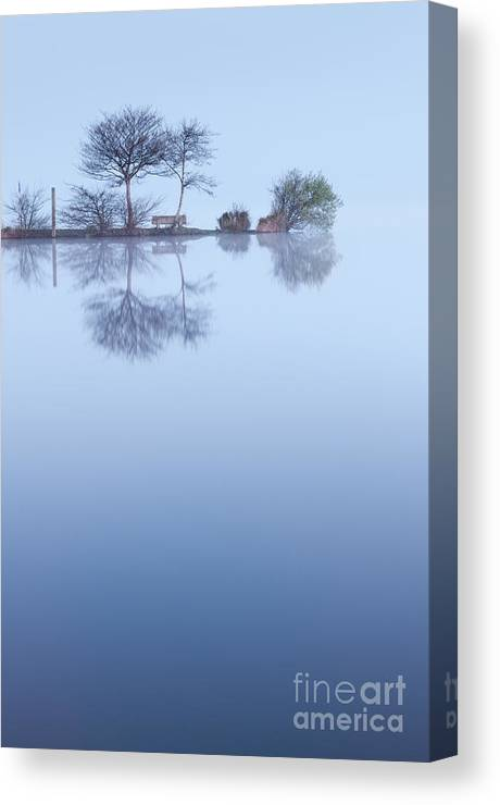 Lac Canvas Print featuring the photograph Blue Background by David Gimenez Aldalur