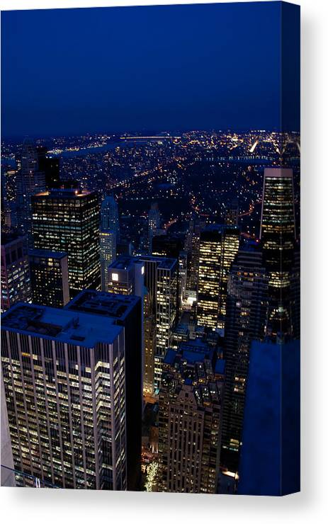 New York Canvas Print featuring the photograph Central Park At Night by Heidi Reyher