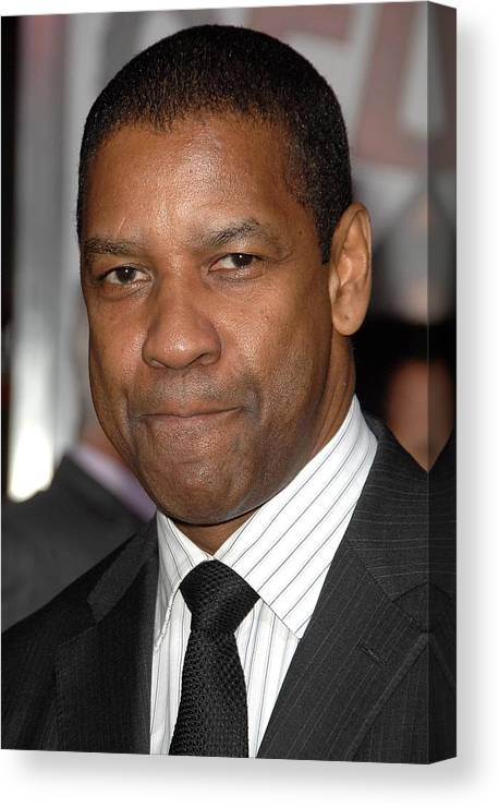 Denzel Washington Canvas Print featuring the photograph Denzel Washington At Arrivals For The by Everett