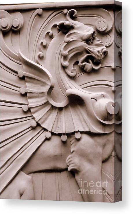 Architechture Canvas Print featuring the photograph Dragon Nouveau by Paula Adams